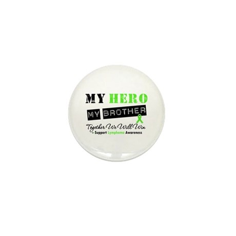 Lymphoma Hero Brother Mini Button (10 pack)