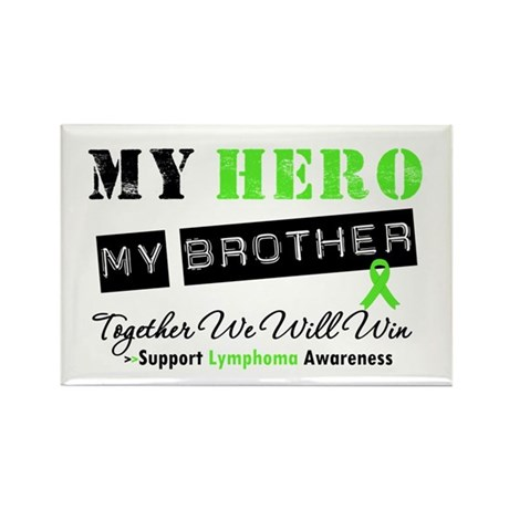 Lymphoma Hero Brother Rectangle Magnet (10 pack)