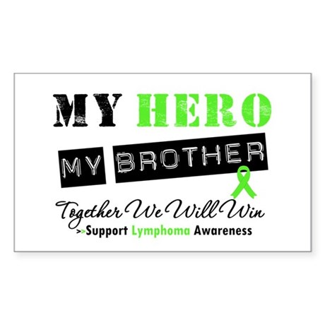 Lymphoma Hero Brother Rectangle Sticker