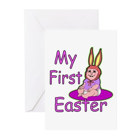Bunny Baby First Easter Greeting Cards (Pk of 10)