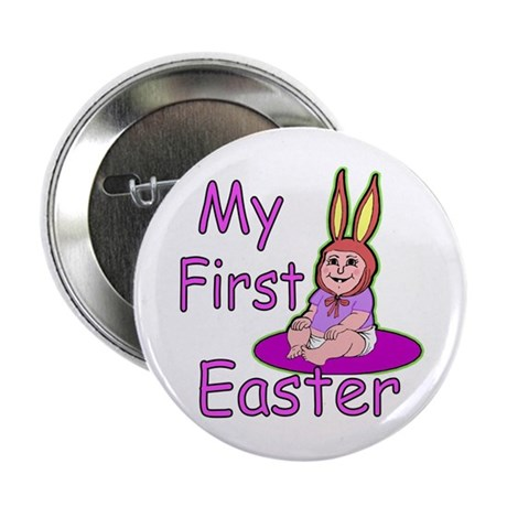 "Bunny Baby First Easter 2.25"" Button"