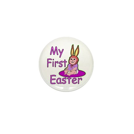 Bunny Baby First Easter Mini Button