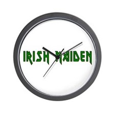 Irish Maiden Wall Clock