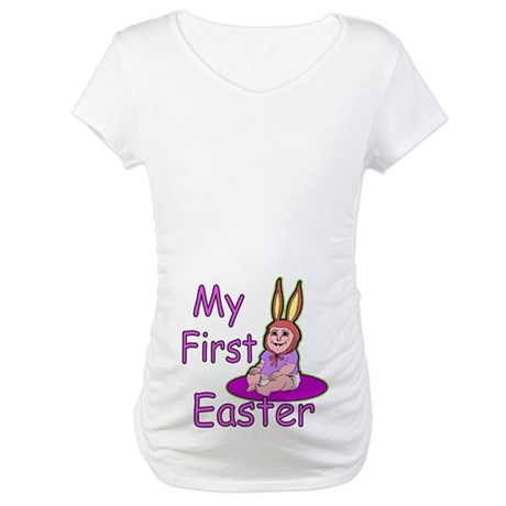 Bunny Baby First Easter Maternity T-Shirt