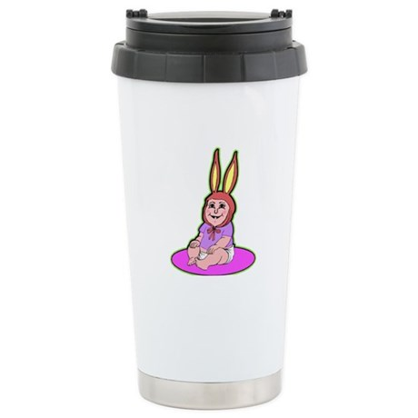 Funny Bunny Ceramic Travel Mug
