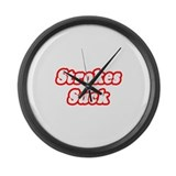 &quot;Strokes Suck&quot; Large Wall Clock