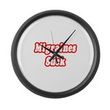 &quot;Migraines Suck&quot; Large Wall Clock