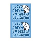 Kawaii Umbrella Cockatoo Sticker (2 in 1)