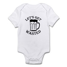 Let's Get Wasted Mug Infant Bodysuit