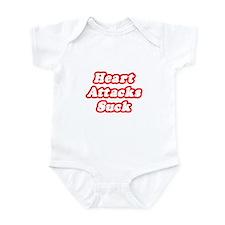 """""""Heart Attacks Suck"""" Infant Bodysuit"""