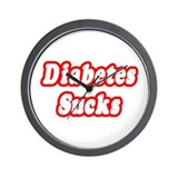 """Diabetes Sucks"" Wall Clock"
