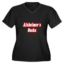 """Alzheimer's Sucks"" Women's Plus Size V-Neck Dark"