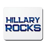 hillary rocks Mousepad