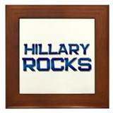 hillary rocks Framed Tile