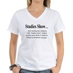 Studies Women's V-Neck T-Shirt