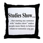 Studies Throw Pillow