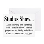 Studies Greeting Cards (Pk of 20)