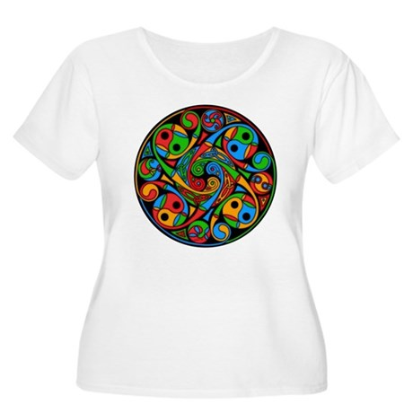 Celtic Stained Glass Spiral Women's Plus T-shirt