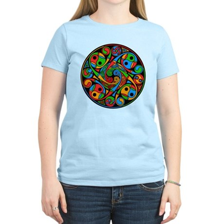 Celtic Stained Glass Spiral Women's Light T-Shirt