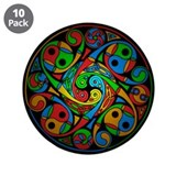"Celtic Stained Glass Spiral 3.5"" Button (10 pack)"