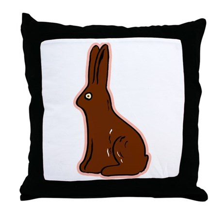 Chocolate Easter Bunny Throw Pillow