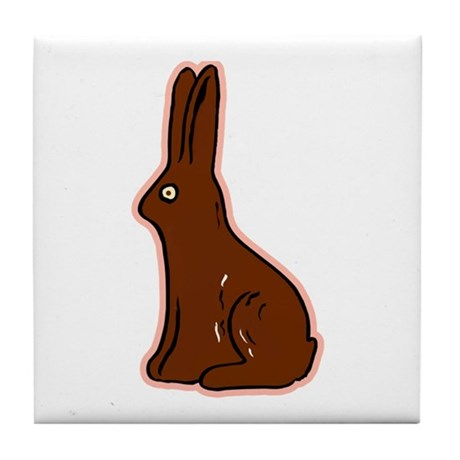 Chocolate Easter Bunny Tile Coaster