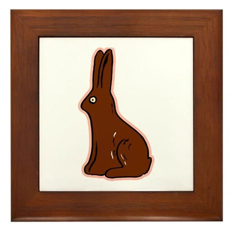 Chocolate Easter Bunny Framed Tile