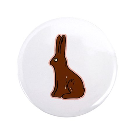 "Chocolate Easter Bunny 3.5"" Button"