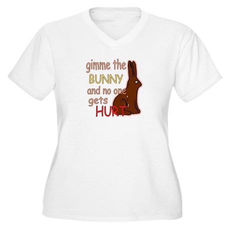 Funny Easter Women's Plus Size V-Neck T-Shirt