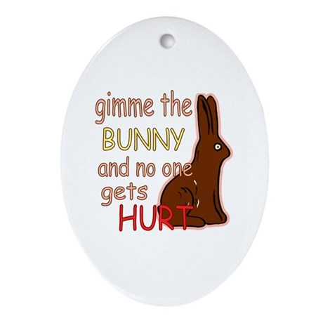 Funny Easter Oval Ornament