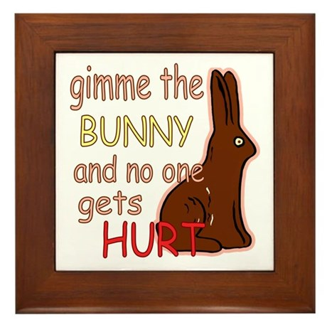 Funny Easter Framed Tile