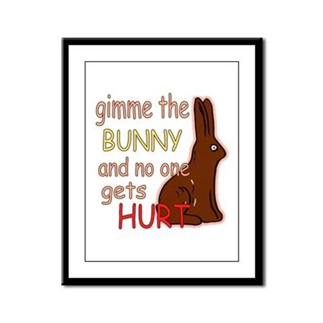 Funny Easter Framed Panel Print