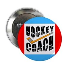 "Hockey Coach 2.25"" Button (10 pack)"