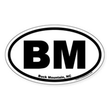 Buck Mountain BM Euro Oval Decal