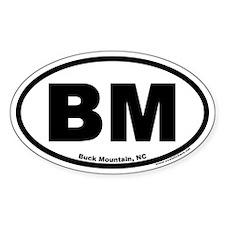 Buck Mountain BM Euro Oval Decal