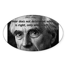 Bertrand Russell Oval Decal