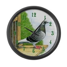 Racing Pigeon Large Wall Clock
