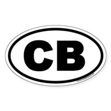 Cocoa Beach Florida CB Euro Oval Decal