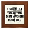 Christian Bailout Framed Tile