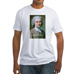 Philosopher Rousseau Fitted T-Shirt