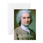 Philosopher Rousseau Greeting Cards (Pk of 10)