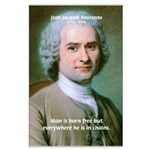 Philosopher Rousseau Large Poster