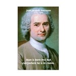 Philosopher Rousseau Mini Poster Print