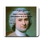 Philosopher Rousseau Mousepad