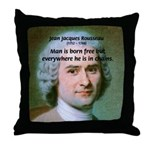 Philosopher Rousseau Throw Pillow