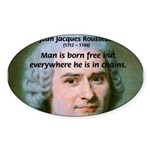 Philosopher Rousseau Oval Sticker
