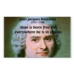 Philosopher Rousseau Rectangle Sticker