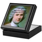 Philosopher Rousseau Keepsake Box