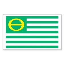 Ecology Flag Rectangle Decal