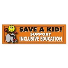 Save a Kid Bumper Bumper Sticker